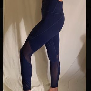 High Waisted Mesh Panel Leggings